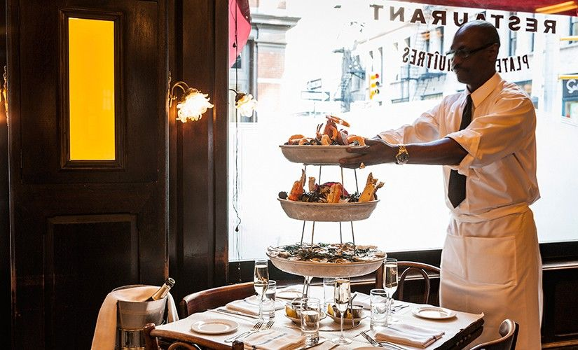 In the heart of Soho in Manhattan, Balthazar Restaurant is open all day seven days a week serving breakfast, lunch, dinner, late supper, and weekend brunch.