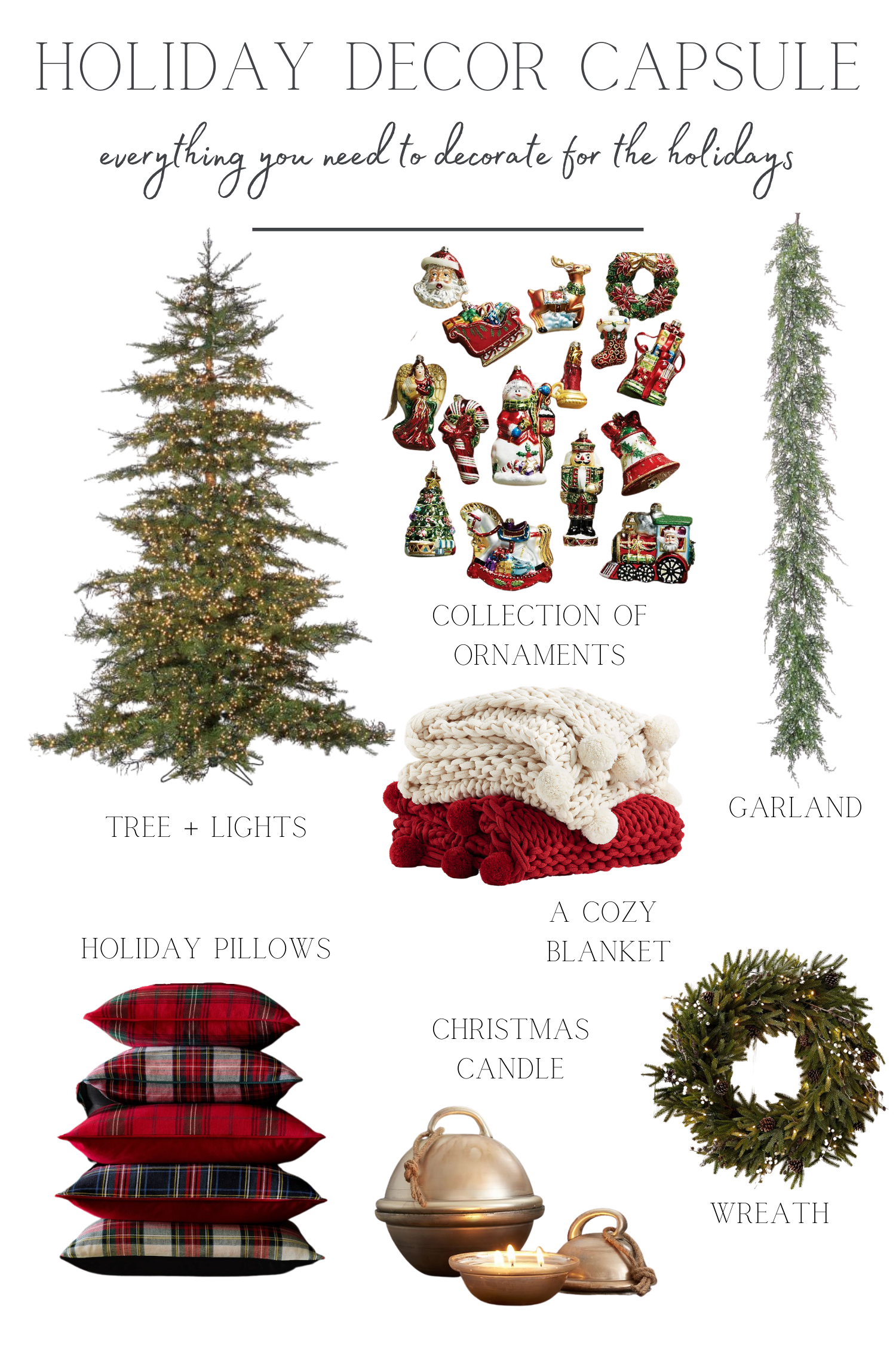 Christmas Decor Capsule All Of The Essentials You Ll Need To Decorate For The Holidays Making It In The Mountains In 2020 Christmas Decorations Christmas Decor Diy Handmade Holiday