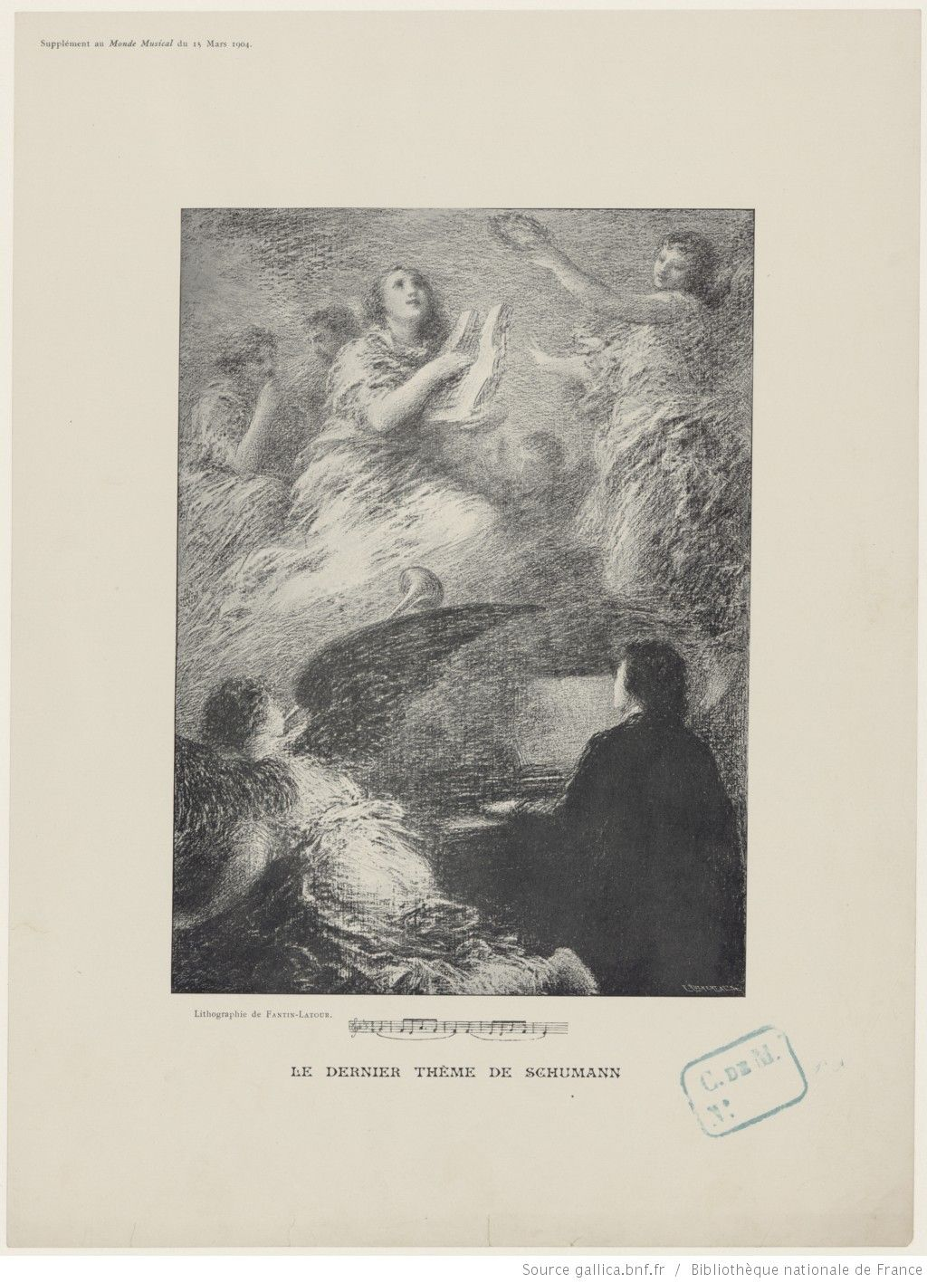 Le dernier thème de Schumann / lithographie de Fantin-Latour ; C. Ruckert & Cie sc.