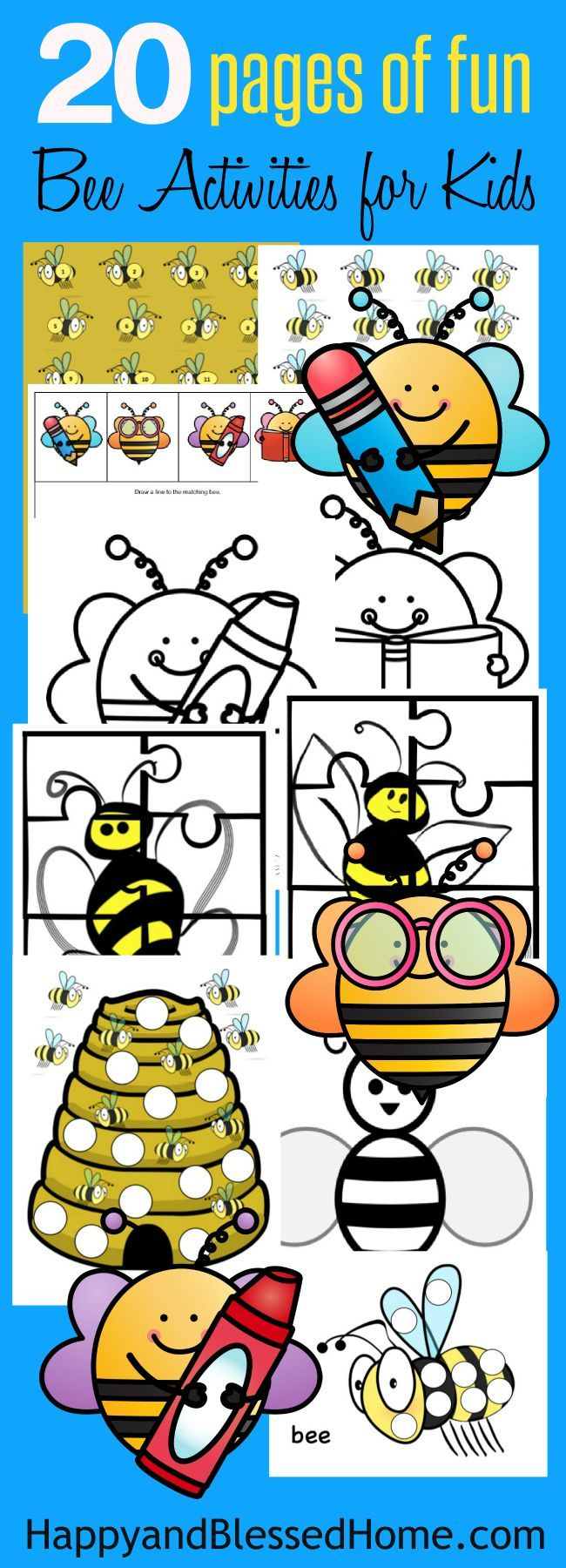 page fun bee activity pack for kids and cereal snacks bee