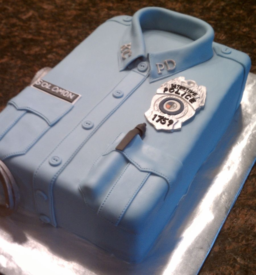 Police Uniform Cake | Party ideas in 2019 | Police ...