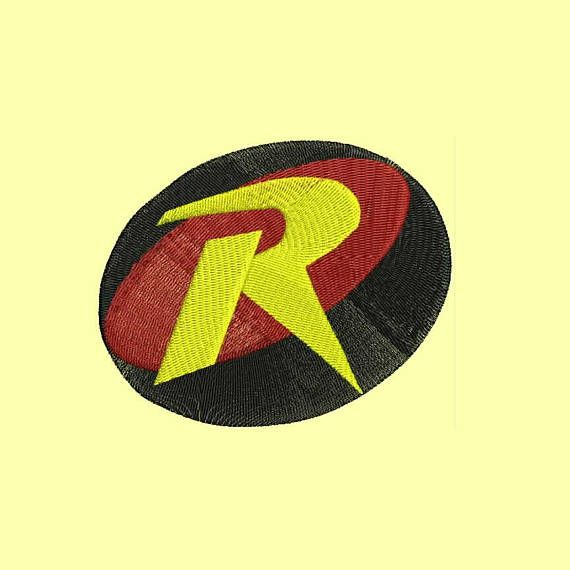 Red Robin Logo Machine Embroidery Designs Instant Download Art I