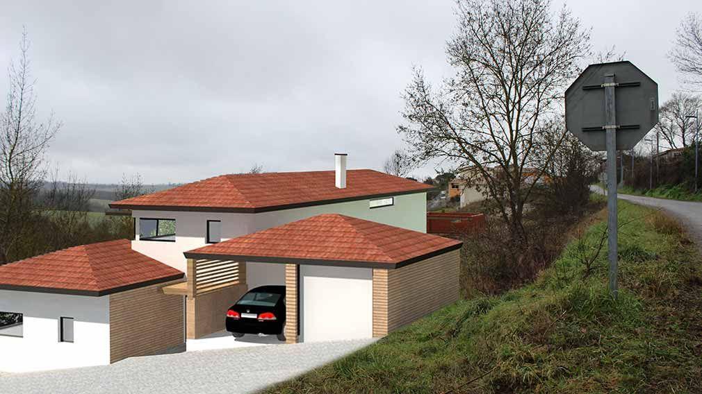 Maison design du0027architecte à demi-niveaux sur terrain en pente - plan de maison sur terrain en pente