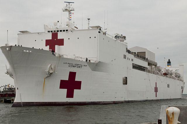 Usns Comfort Arrives In Mayport Naval Station Norfolk Us Navy Ships Navy Ships