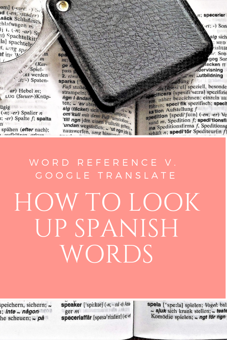 Activity For Students To Learn How To Look Up A Word In An Online Dictionary They Ll Be Shown Word Reference How To Speak Spanish Spanish Teaching Resources [ 1102 x 735 Pixel ]