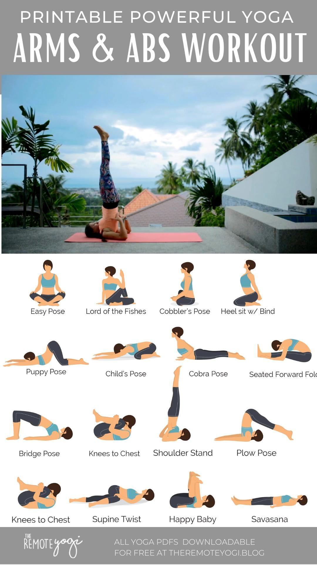 Yoga for Strong Abs & Arms – Free Printable PDF