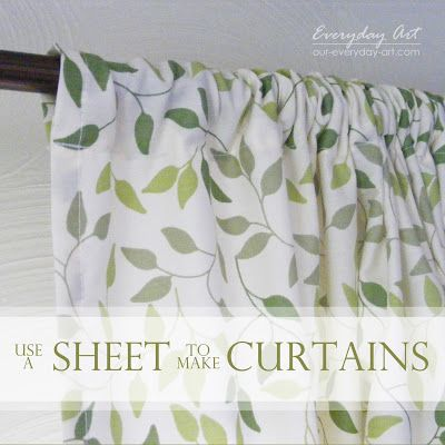 Sheet Curtains I have these sheets to make curtains! Great minds
