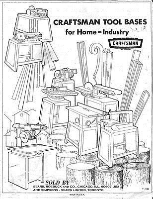Details about 1972 Craftsman Power Tool Stands-Pyramid