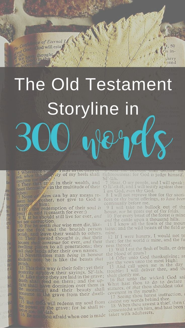 The Old Testament Storyline in 300 Words (With images