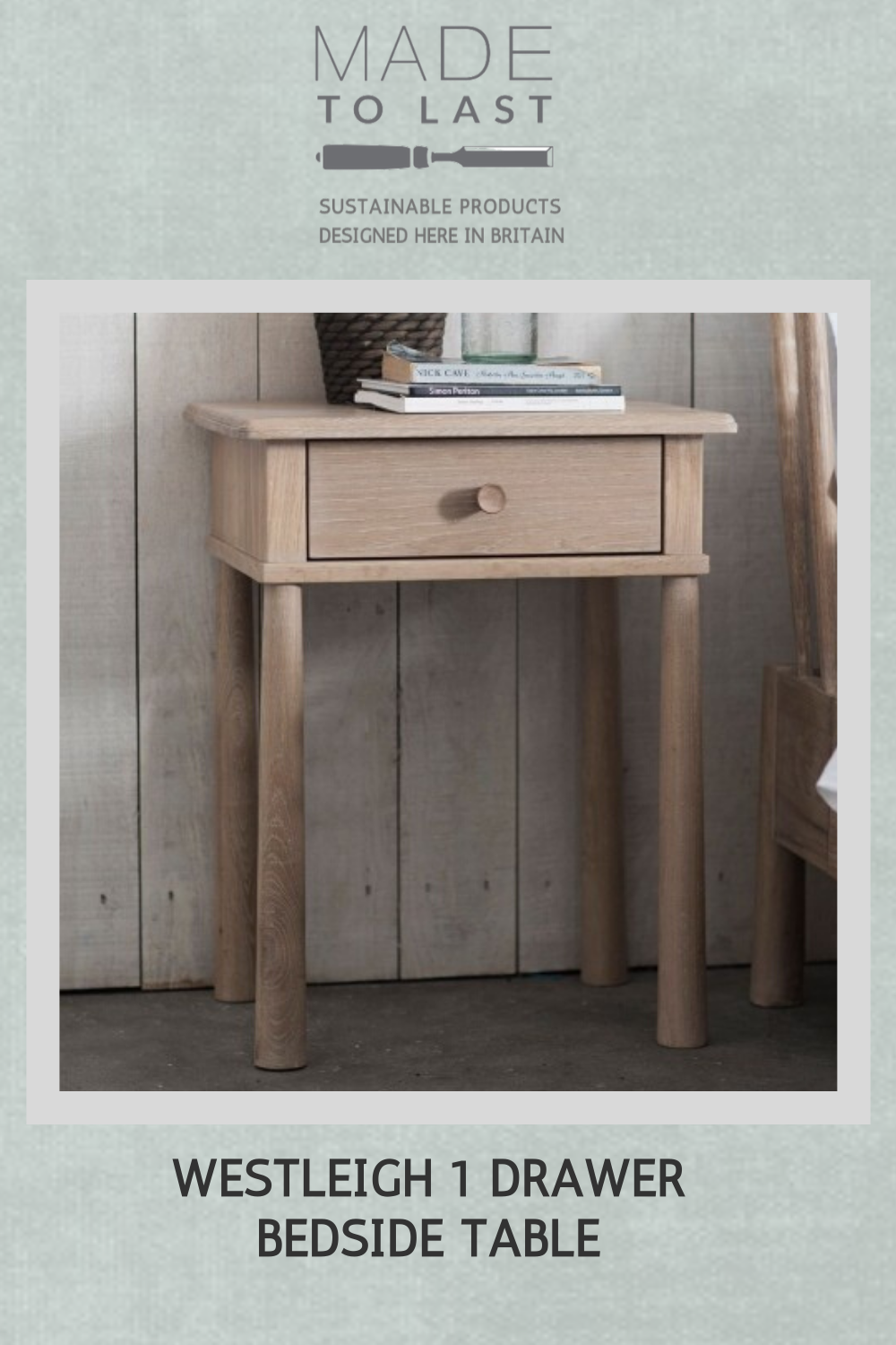 Westleigh 1 Drawer Bedside Table In 2020 Oak Bedside Tables Wooden Bedside Cabinets Bedside Table #side #table #for #living #room #with #drawers