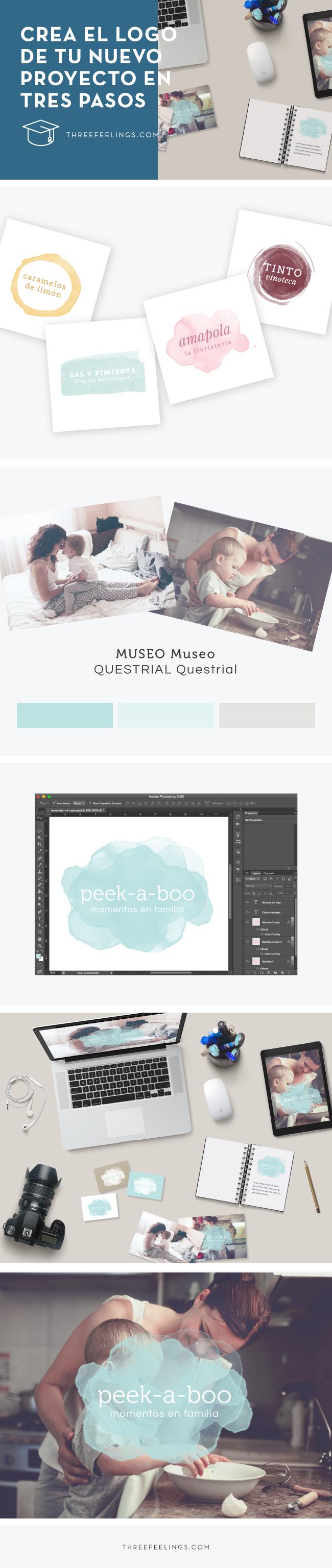 Crea el logo de tu nuevo proyecto o página web en 3 sencillos pasos #logosprediseñados #design
