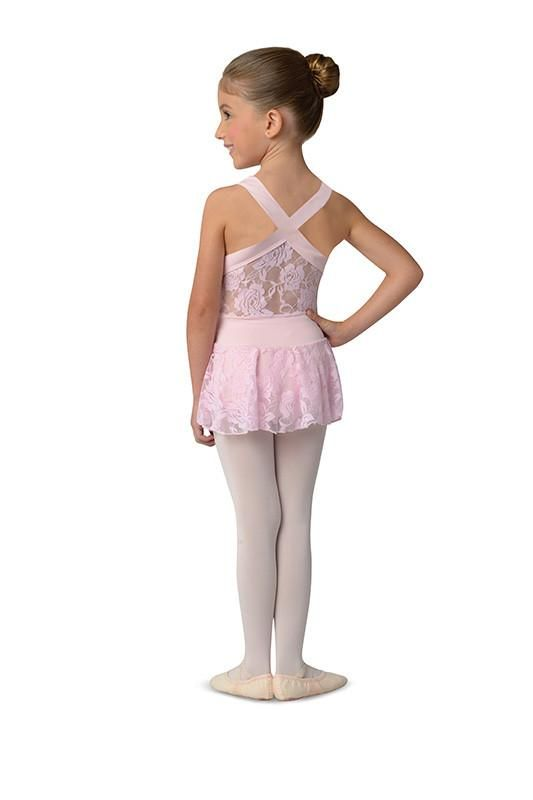 DansNmotion Childrens Lace Tank Dance Dress With Cross Straps