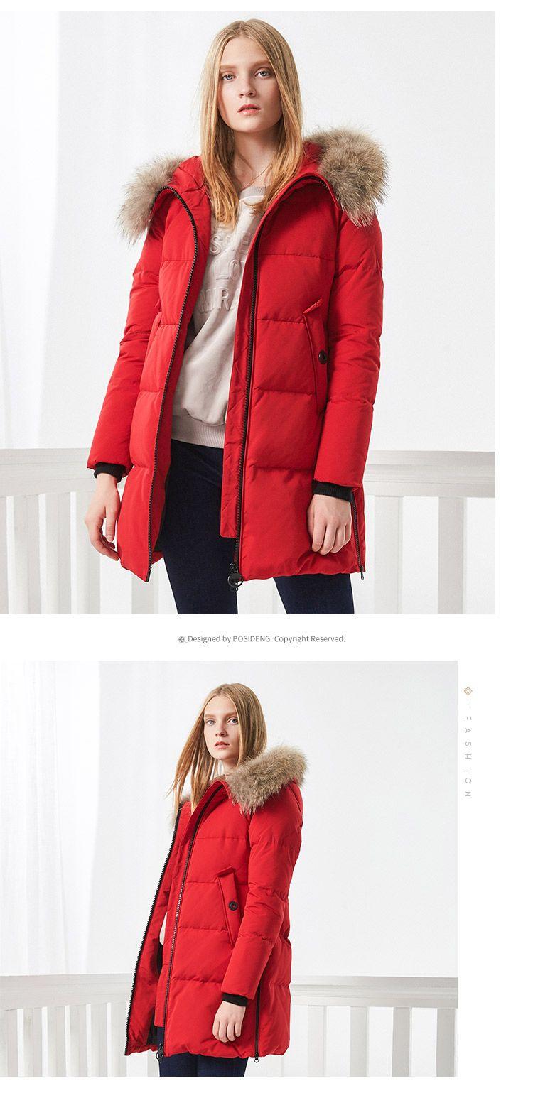 b049a54209f5 women winter duck down jacket mid-long down coat natural fur collar deep winter  thicken