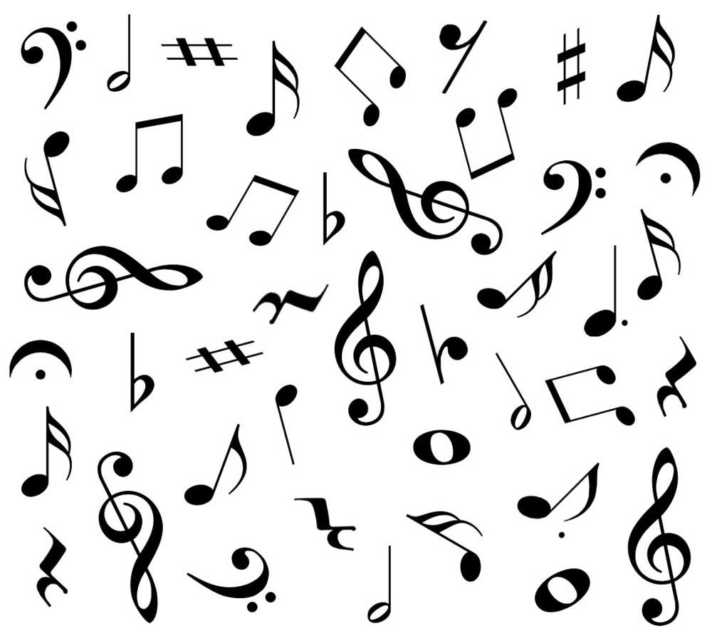 Buy music symbols design bulk gift wrap by the foot music gift music symbols in cut card biocorpaavc Images