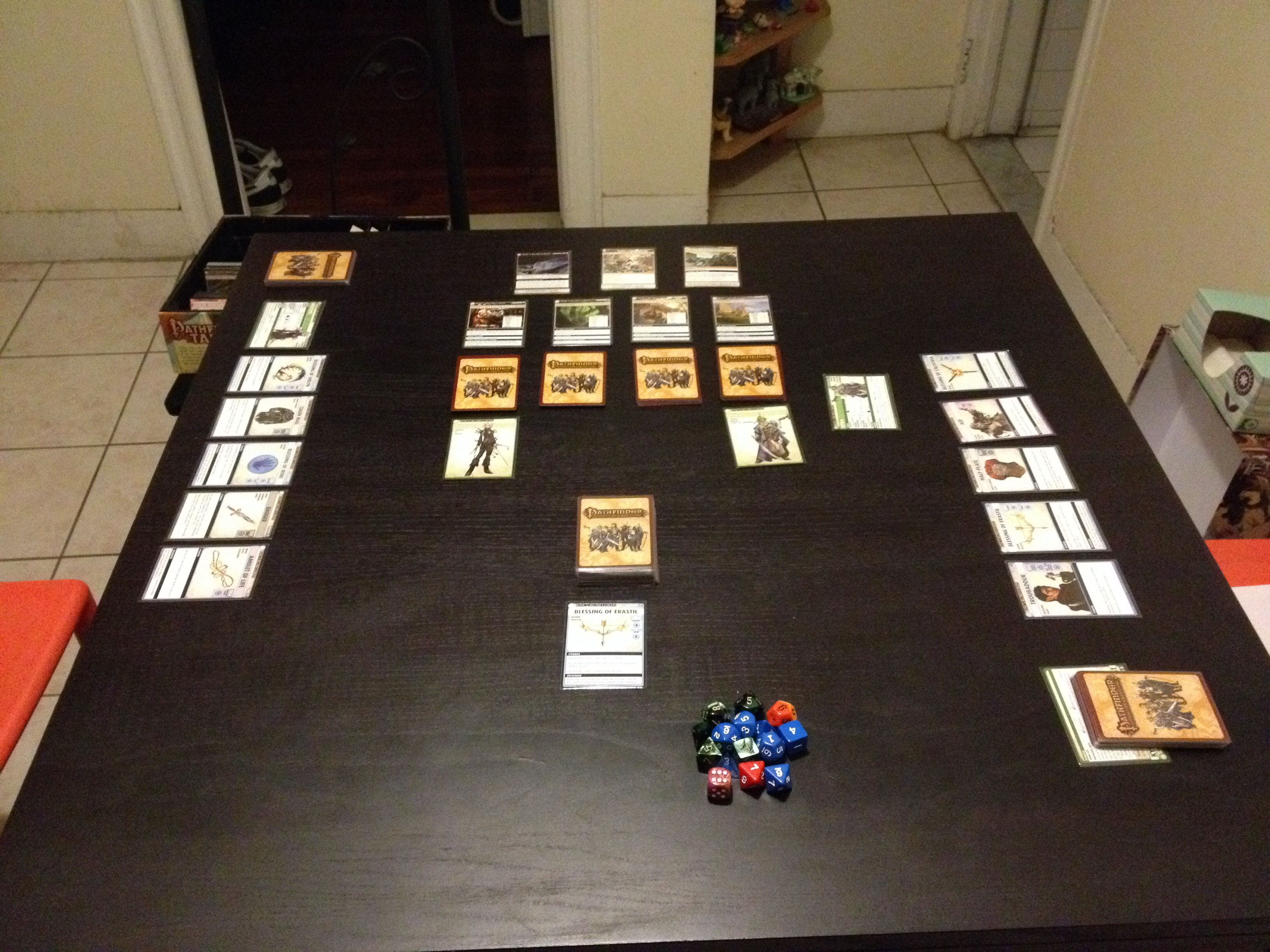 Pathfinder the Adventure Card Game. We were playing the