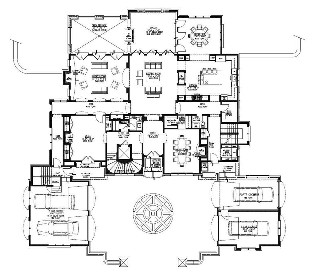 Large Images For House Plan 152 1009 Luxury House Plans Mansion Floor Plan Luxury Floor Plans