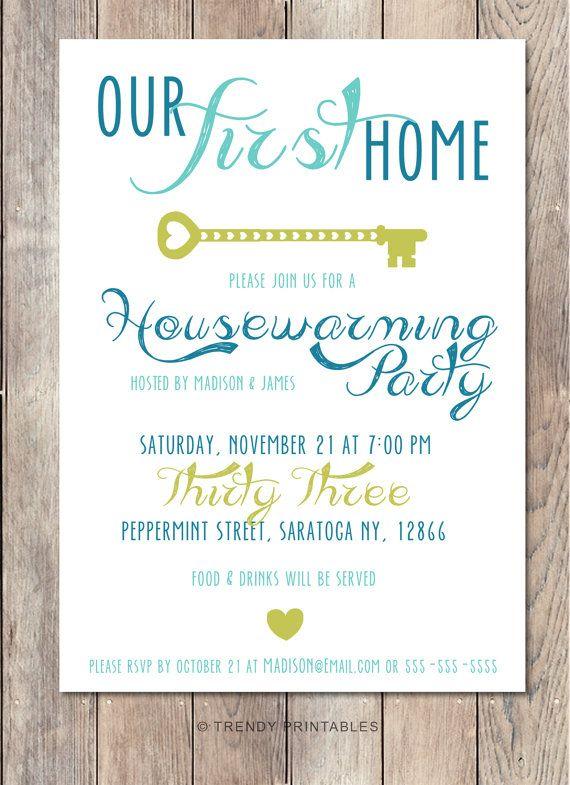 Housewarming Party Invitation, Housewarming Invitation ...