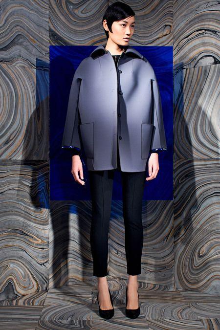 Look 5 Behnaz Sarafpour Fall 2013 #NYFW #volume #jacket