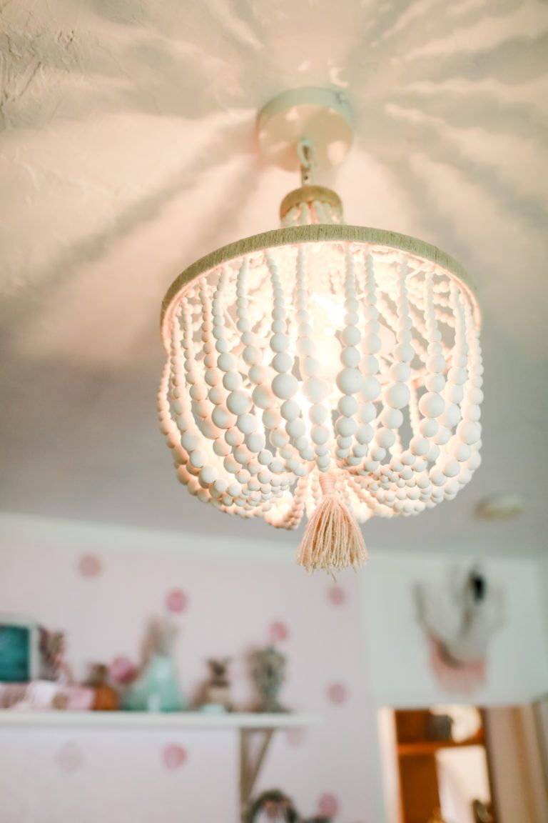 Layla S Boho Vintage Nursery Project Nursery Girls Bedroom Lighting Nursery Light Fixture Girls Nursery Lighting