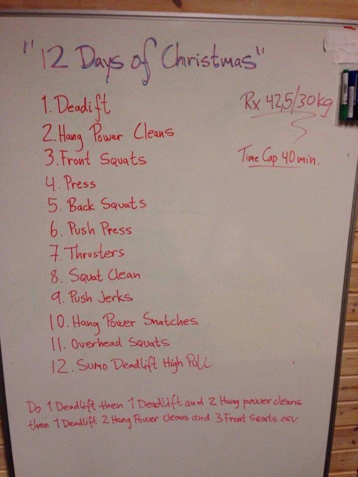 12 Days Of Christmas Crossfit Wod.Pin On Gym