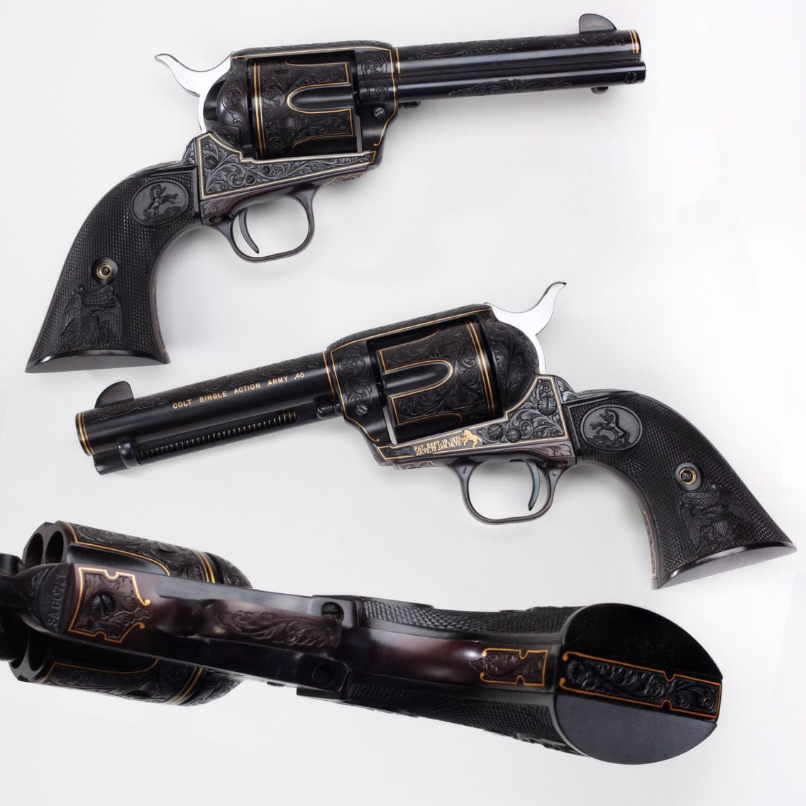 GUN OF THE DAY – Colt Single Action Army (4 ¾ barrel)   Want to see more Colt SAAs? Click here to visit our online galleries: http://bit.ly/1ATq3xA