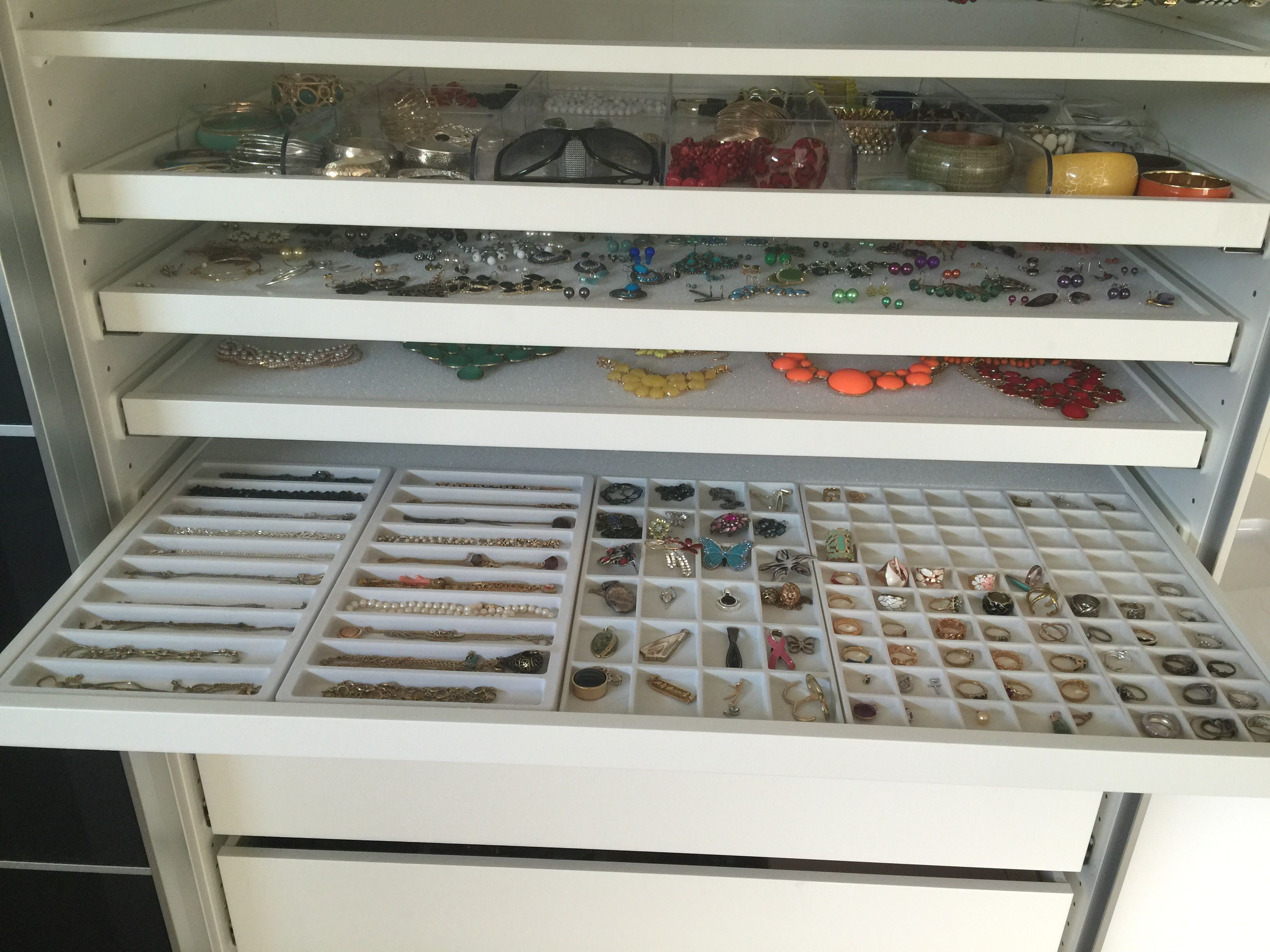 Storing Jewelry Etc So You Can Easily See And Use It Ikea Jewelry Storage Ikea Closet Organizer Ikea Bedroom Storage