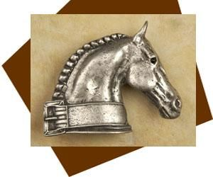Anne At Home Dressage Horse Cabinet Knob   Right