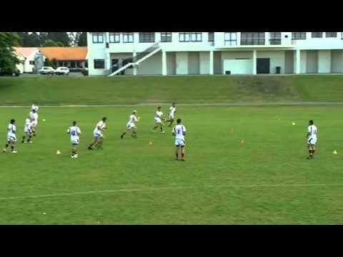 Passing Drill Red Green And Yellow Rugby Training Rugby Drills Rugby Coaching