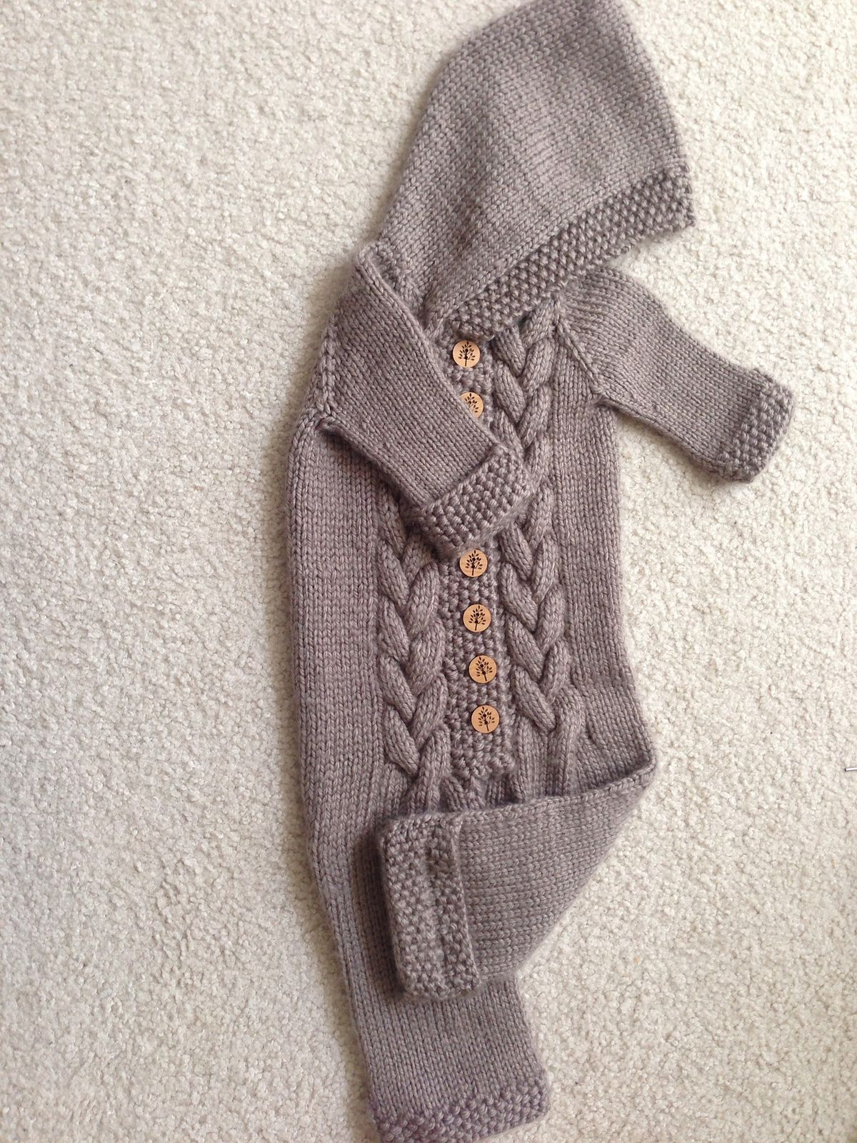 Ravelry Top Down Baby Bunting by Amanda Lilley Baby