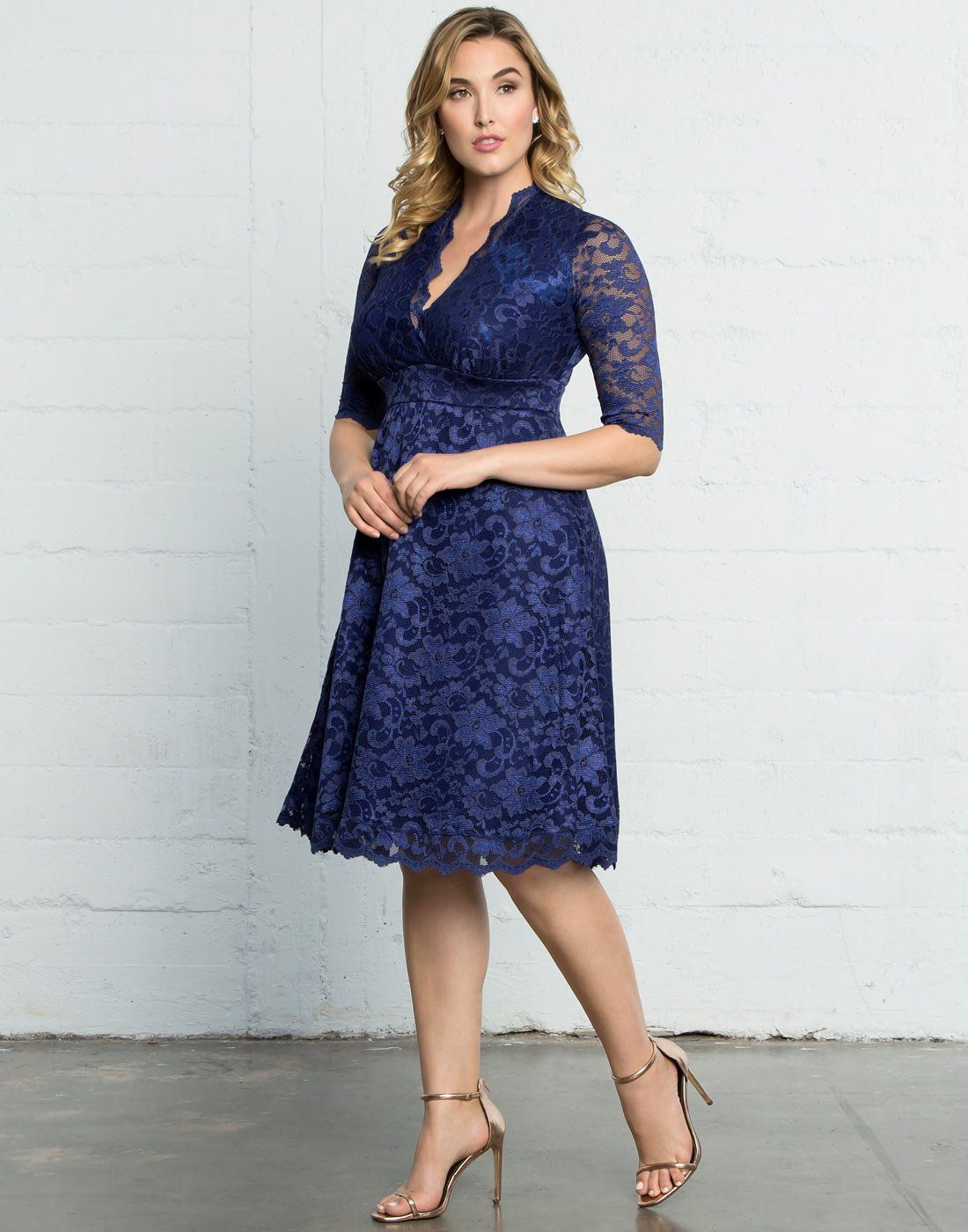 db561d2393 Kiyonna Womens Mademoiselle Lace Dress Sapphire Blue 3X     Want additional  info  Click on the image.-It is an affiliate link to Amazon.  dresses