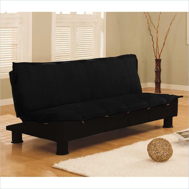 Serta Dream Convertible Charmaine 3 Position Sofa, Lounger, Bed In Black  $360.99