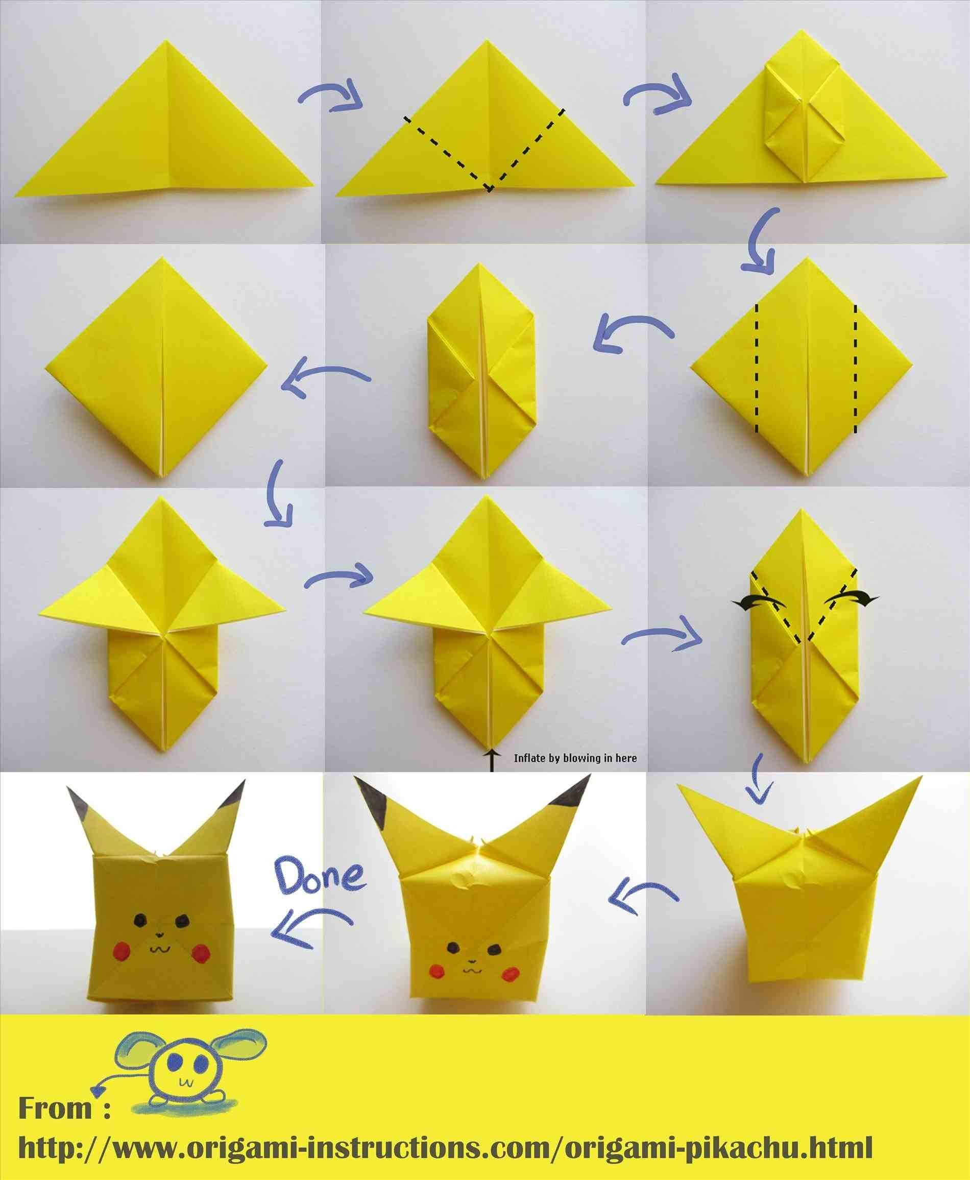 How To Create An Origami Pikachu From a Post-It Note | 2311x1900