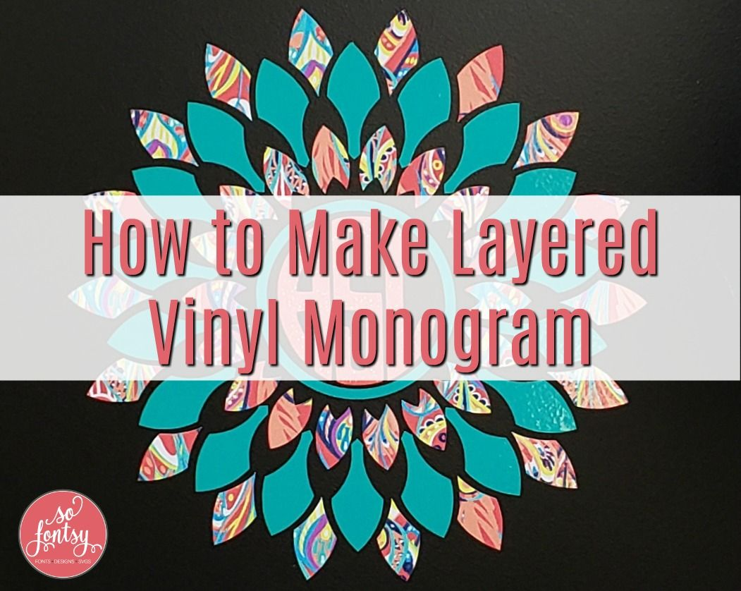How to Make a Multi Color Layered Vinyl Monogram is part of Vinyl monogram, Layered vinyl, Monogram vinyl decal, Monogram decal, Mandala monograms, Vinyl - Materials for Vinyl Decal Oracal 651 Adhesive Vinyl Sparkleberry Patterned Adhesive Vinyl Transfer Tape Mandala Design Bundle No need to keep your monograms all one color   you can create multicolor vinyl monogram decals by layering vinyl  This mandala design from the Mandala Bundle   and also sold here individually   is perfect  Download the …