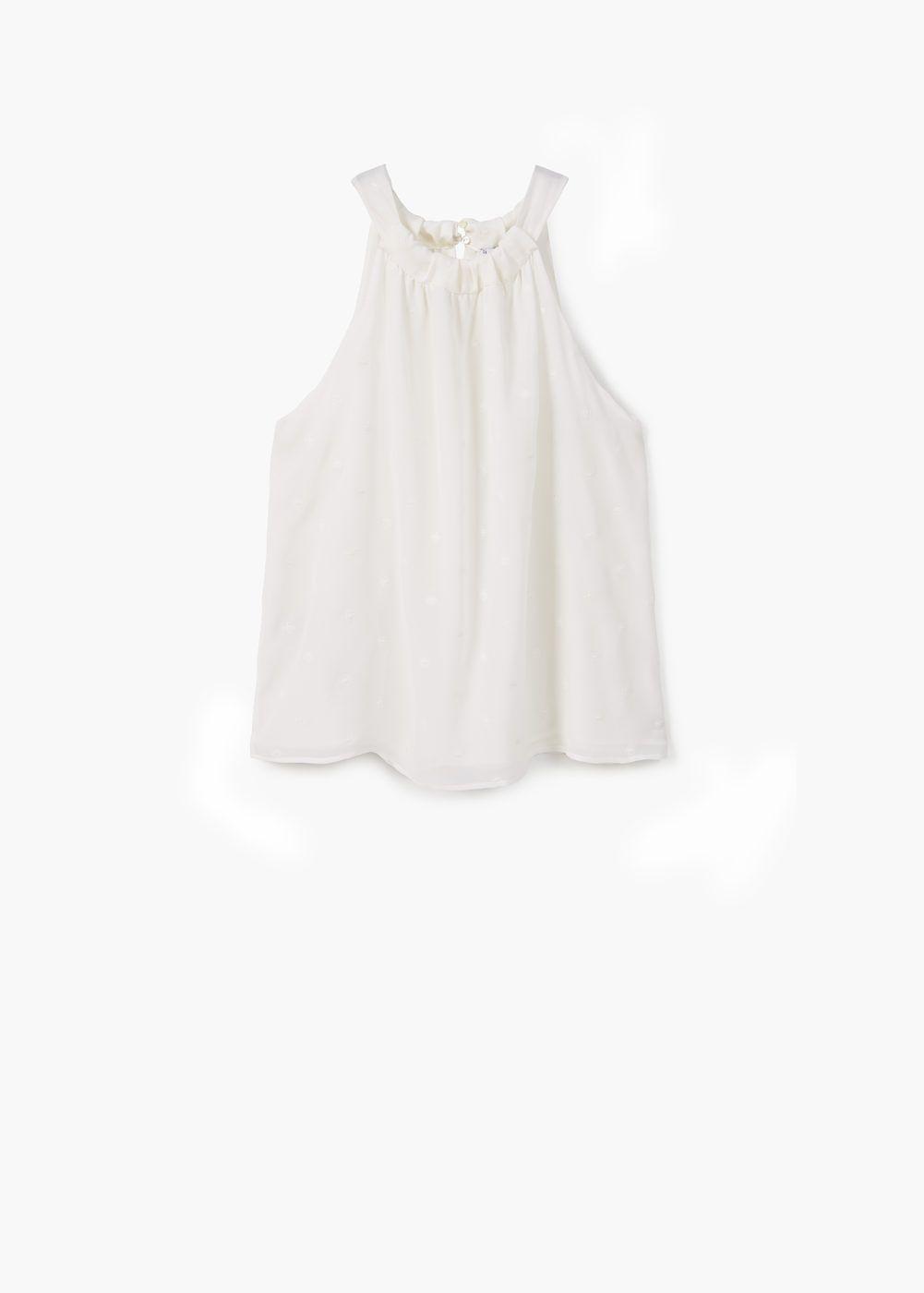 Top bordado algodón | MANGO
