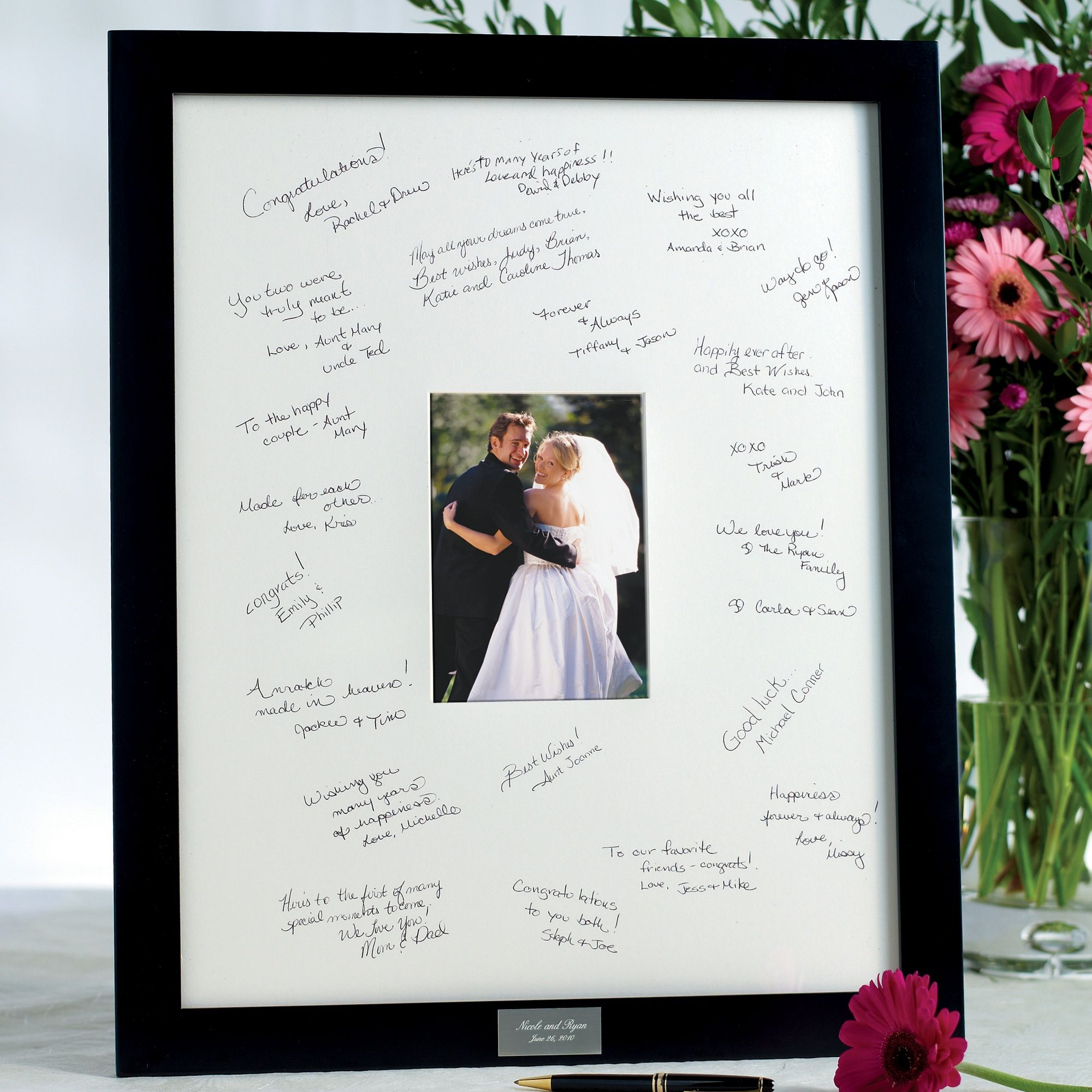 Wedding Guest Book Frame with a picture of the bride & groom. Don\'t ...