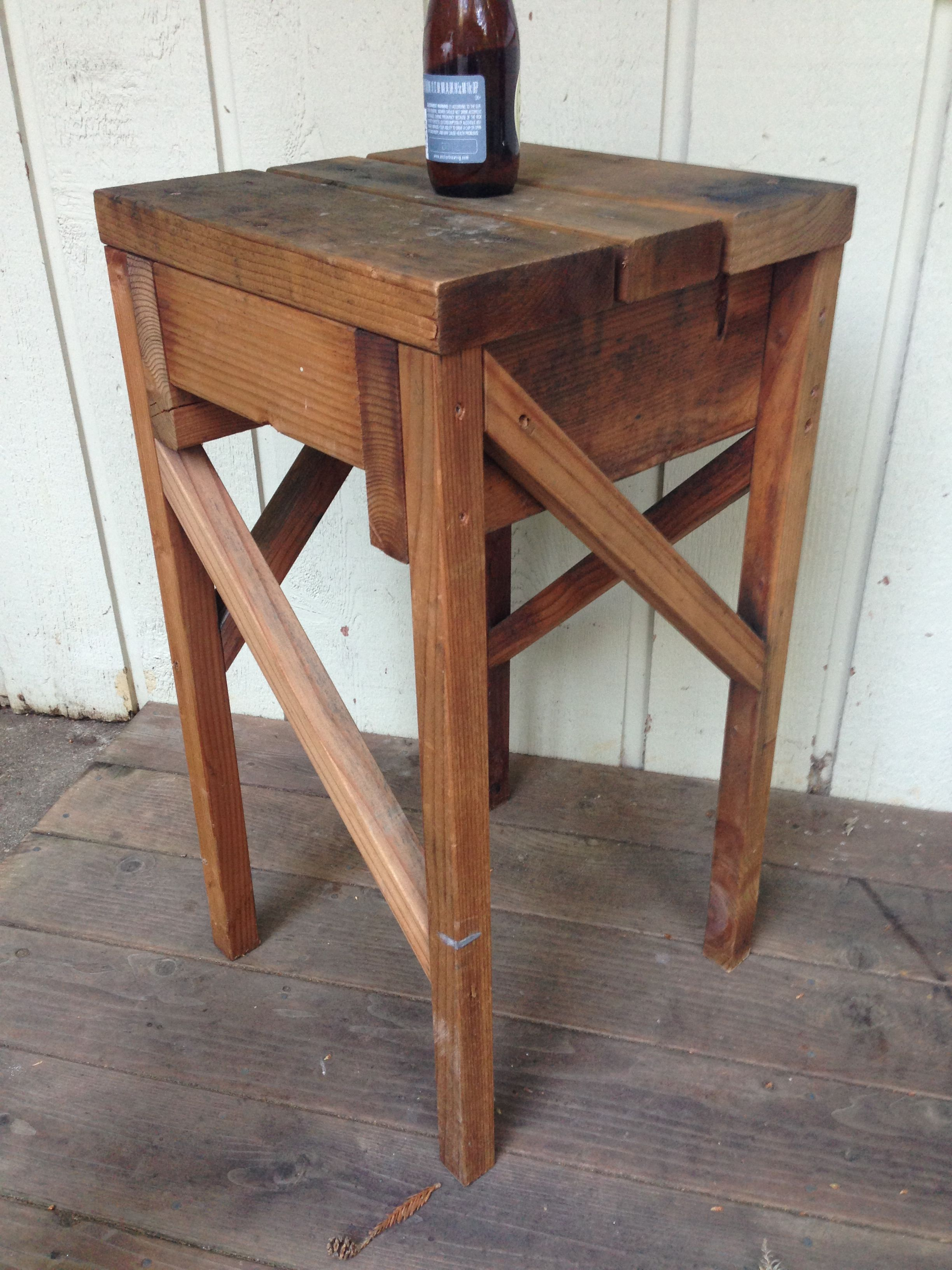 Fun little table I made out of 2x2 2x4 & 2x6 redwood scraps