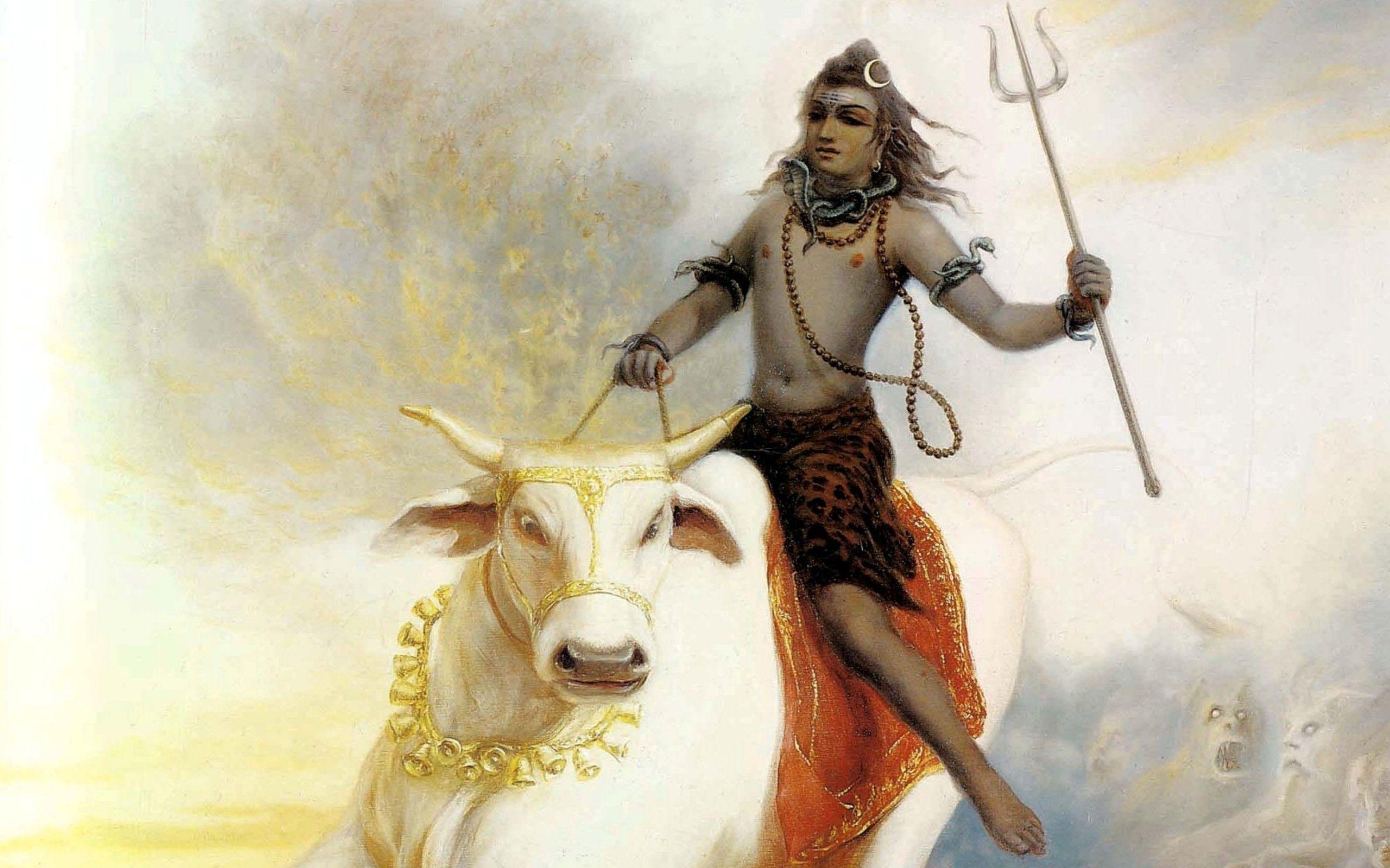 Wallpaper Lord Shiva Aghori Hd Creative Graphics 12691: Lord Shiva Riding Nandi