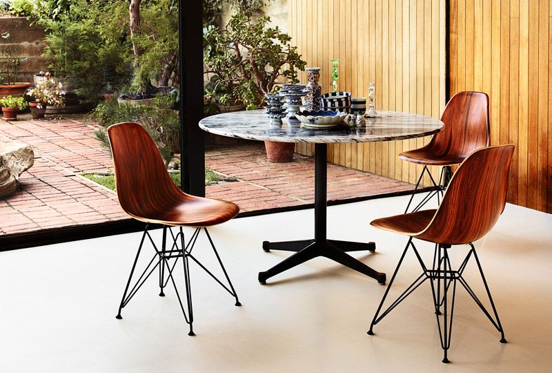 If It's Hip, It's Here: Herman Miller Updates An Eames Classic With Wood. The New Molded Wood Eames Chair.