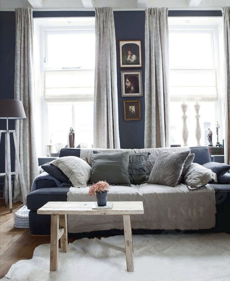 40 Rustic Living Room Ideas To Fashion Your Revamp Around: Living Room Interior Decor Dark Walls Eclectic Modern