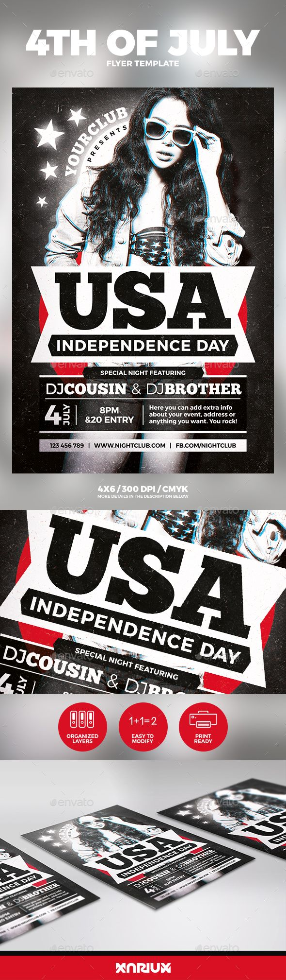 Th Of July Independence Day Flyer  Flyer Template Event Flyers
