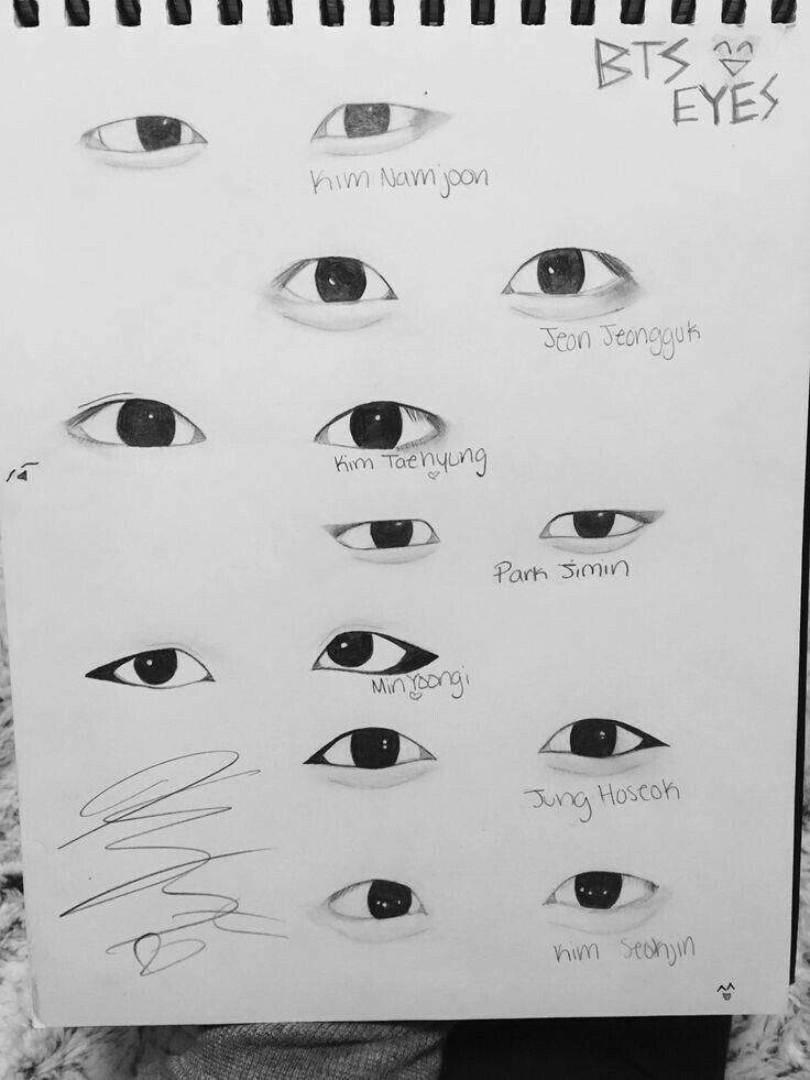 Как нарисовать BTS | Рисовать глаза, Рисовать, Как рисовать