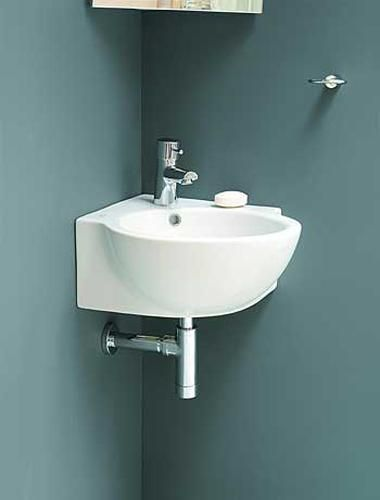 Lavabo De Baño De Esquina Pequeña #esquina #lavabo #peque