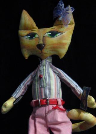 """""""Leopoldo"""" Art textil cat-doll"""