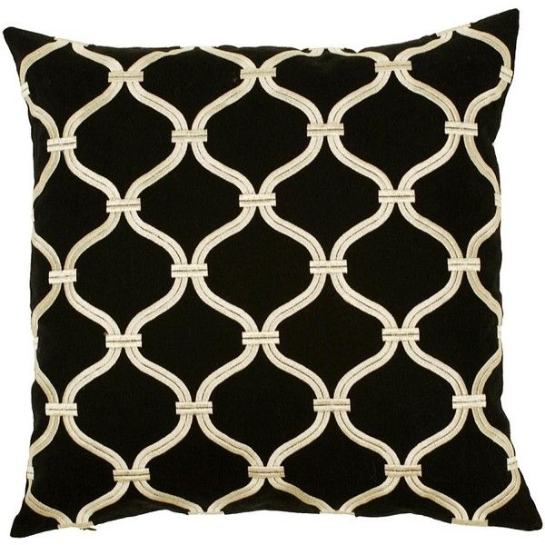 Black And Beige Down Throw Pillow 40 Sq 40 Liked On Enchanting Down Decor Pillows