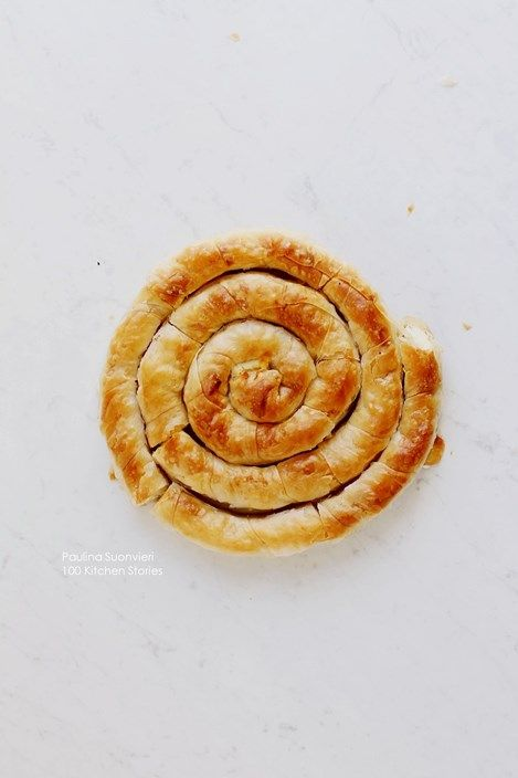 """100kitchenstories: Greek """"tiropita"""" - phyllo dough pie with feta cheese"""