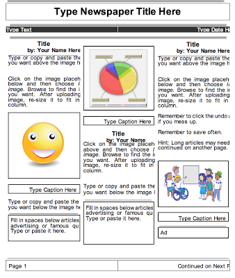 Beautiful Templates To Create Classroom Newspapers Using Google