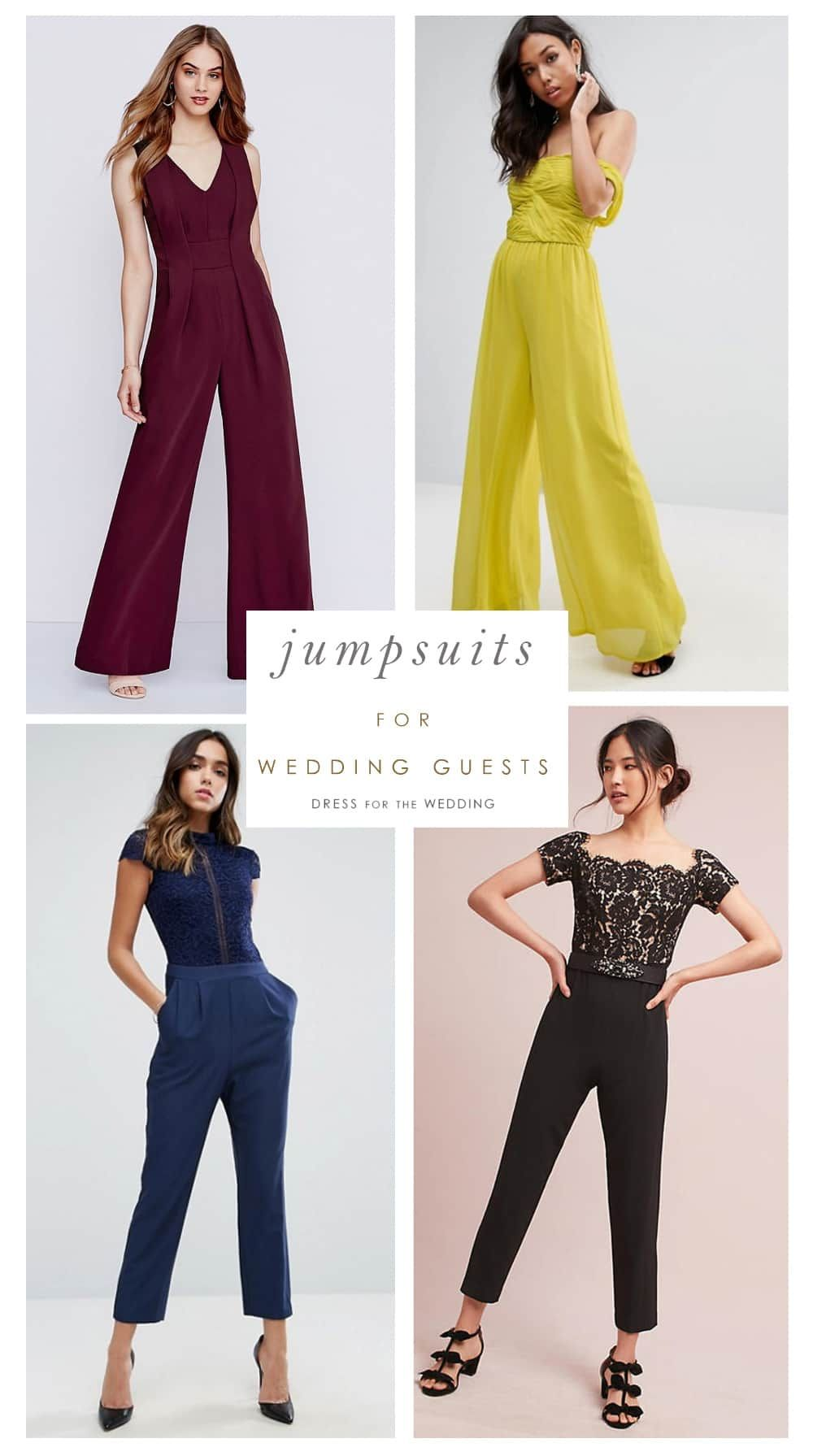 15 Jumpsuits You Can Absolutely Wear As A Wedding Guest Dress For The Wedding Dressy Jumpsuit Wedding Jumpsuit Outfit Wedding Jumpsuit Dressy