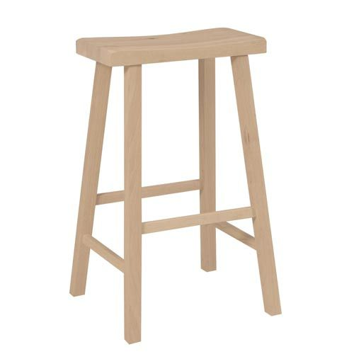 Unfinished Wood Saddle Seat Stool