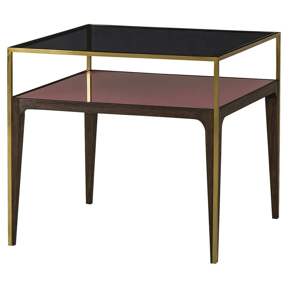 Best Boyd Silhouette Mid Century Gold Trim Smoked Glass Side 640 x 480