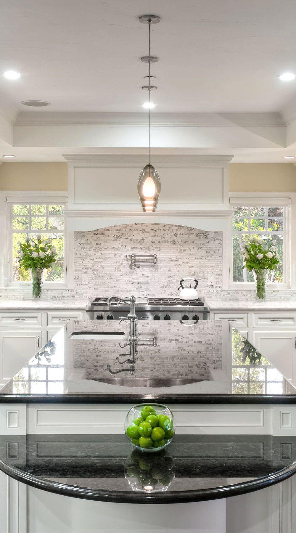 50+ Black Countertop Backsplash Ideas (Tile Designs, Tips ... on Backsplash Ideas For Dark Granite Countertops  id=93855